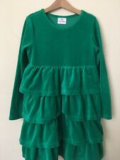 Hanna Andersson Dress 140 Green Tiered Christmas Holiday Party Size 5 6 Girls