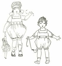 """Sewing Pattern fits 12-14"""" Doll Romper Victorian German French Little Darling"""
