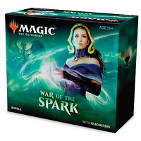 Magic: The Gathering War of The Spark Bundle | 10 Booster Packs | Accessories |