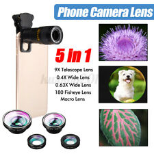 5 in 1 Mobile Lens Phone Camera Cell Clip Optical Telescope Kit Zoom Universal