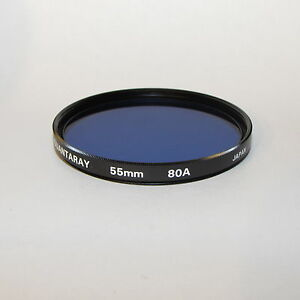 Used Quantaray 80A Blue 55mm Lens Filter Made in Japan S332529