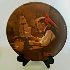 """Norman Rockwell Collector Plate """"The Ship Builder"""" #6434F, Knowles China"""