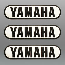 YAMAHA Motorrad Tank 3 Aufkleber 3 Stickers Größe 138 x 35 mm Cafe Racer Bobber