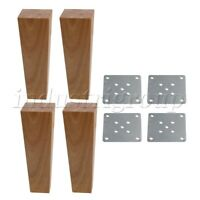 4Pcs Furniture Legs & Iron Sheets 100KG Cabinets Bed Sofa Foots