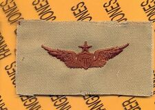 US Army Senior Pilot Aviation Flight desert DCU badge cloth patch