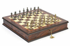 Gothic Chessmen & The Ultimate Chess Board Locking Cabinet Set King 2 5/8""