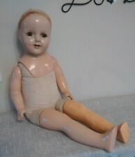"Large 29"" Composition / Cloth Body Doll~ Rough~Tlc~Restore~Parts"