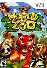 WORLD OF ZOO game in case - Nintendo Wii - good condition - used