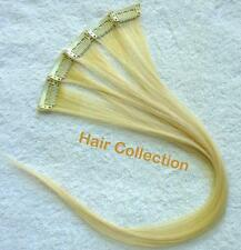 "18""Blonde  Remy Human Hair Clip on in Extensions for Highlights(5pcs)"