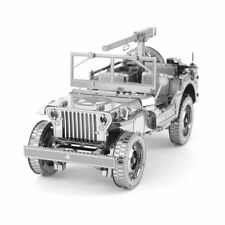 Fascinations ICONX Willys MB Jeep U.S. Army Truck Metal Earth 3D Steel Model Kit
