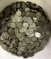 Lot Of 25 Circulated Jefferson Nickels (Random Wartime Years)