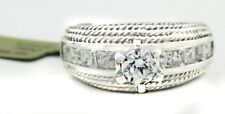 14k White Gold & CZ ENGAGEMENT RING * *FREE APPRAISAL & FREE SHIPPING**