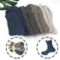 New Men's 1/3/5Pair Value Thick Wool Hiking Walking Socks Chunky Winter Boot