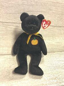 Ty Retired Beanie Baby 9th Generation 2001 Haunt Halloween Bear Mint