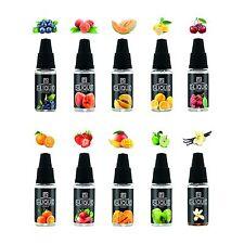 10X10ml E-Liquid 0,0mg Nikotin 10 Aromen für E-Shisha E-Zigarette (20,59€/100ml)