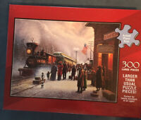 """300 Large Pieces Puzzle """"When Denver Rode """" All Ages Young & Old Train Jigsaw"""