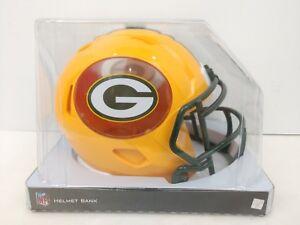 GREEN BAY PACKERS Speed Mini Football Helmet Coin Bank Revolution Rodgers Favre