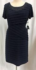 Adrianna Papell Embellished Jersey Shutter Pleat Dress Plus Sz. 16W NWT $198