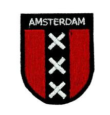 Patch toppe toppa ricamate termoadesiva bandiera olanda amsterdam blasone