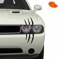 Adesivo graffio segni di artigli nero stickers scratches black pvc cropped