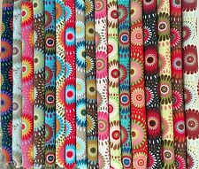 "17 - 2.5""  Lucky Medallions Jelly Roll 100% Cotton Quilting Fabric"