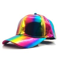 Marty McFly Rainbow Hat Baseball Cap Adjustable Back to the Future Cosplay Hat