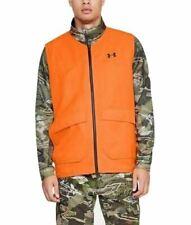 Under Armour 1316737 Men's UA Blaze Orange Deer Safety Hunting Vest, Dump Pocket