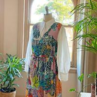 🌈[NEW]  Gorman x Camilla Perkins  🦓 Zebra Tank Cotton Dress Size 14/16 L 🌈