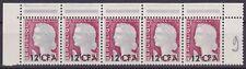 REUNION CFA 1962 YT 350 Degradation of grey background in strip of 5 NHXF