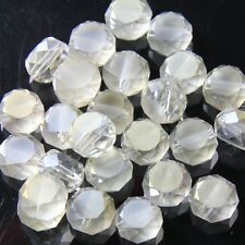 10pcs 10mm Swaro-element  Flat drum Crystal beads D silver-champagne
