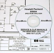 Hp 8560A Service Manual & Clip (Schematics) 2 Volumes