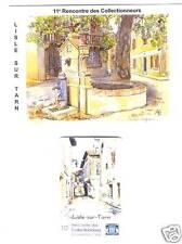 LISLE-SUR-TARN - ruelle, fontaine, bassin - carte téléphone 1998 + carte postale