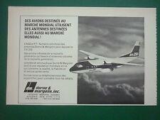 1980'S PUB DORNE & MARGOLIN ANTENNES ANTENNAS CASA NURTANIO CN 235 FRENCH AD