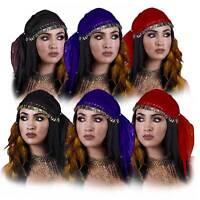 Women Gypsy Belly Dancer Festival Mystic Fortuneteller Cosplay Costume Headscarf
