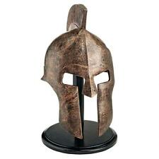 Hellenistic Spartan Greek Helmet Faux Bronze Sculpture Replica Atop Museum Mount
