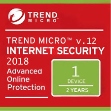 Trend Micro Internet Security Antivirus 2018 Latest | 2 Year | 1 Device