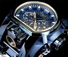 Invicta Shaq Bolt Zeus Magnum 2 Dials Blue Steel Diamond Accent Watch 52mm New