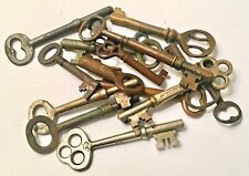 Antique 1920's Skeleton And Cabinet Keys Brass And Steel (15) Original+Beauties!