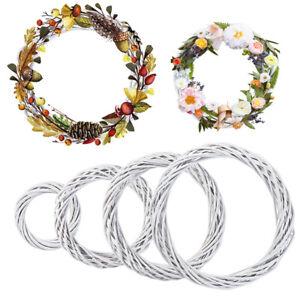 Artificial Rattan Garland Vine Wreath Wicker Ring Wedding Party Home Decor