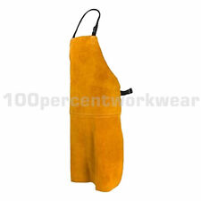 RHINOweld Tan Cow Split Leather Welders Welding Apron 100cm x 80cm Stitched New