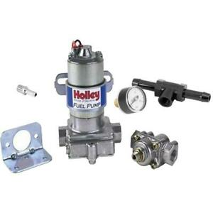 Holley 12-802-1 Blue Electric Fuel Pump/Press Gauge, 5945 Fitting