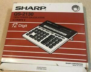 Sharp QS-2130 Twin Powered Display 12 Digit