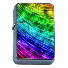 Electric Rainbow Em4 Flip Top Oil Lighter Wind Resistant With Case