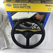 Hella Rallye Momo 365mm leather steering wheel. Genuine boxed NOS. TRULY SUPERB!