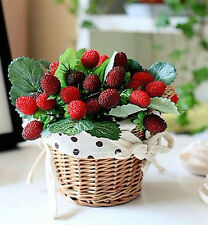 6 Bunches Red Bayberry Grass Artificial Lifelike Fruit Plastic Plant