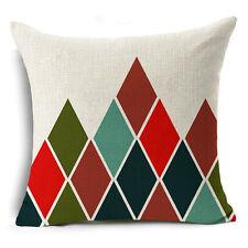 Bohemian Ethnic Geometric Cotton Linen Pillow Case Square Cushion Cover #16 Black Plus