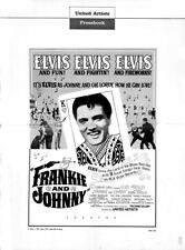 FRANKIE AND JOHNNY pressbook, Elvis Presley, Donna Douglas, Sue Ann Langdon