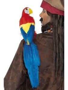 50cm Shoulder Parrot Adults Pirate Fancy Dress Costume Prop Mens Ladies Parrot
