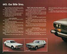 1977 Datsun Full Line Sales Brochure B-210  280Z  F-10