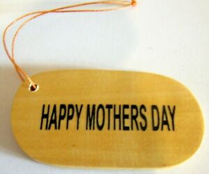 """TIMBER """"HAPPY MOTHERS DAY"""" GIFT TAGS! PERSONALISE THEM TO TIE ON A SPECIAL GIFT"""